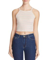 Nation Ltd - Blue Winnie Stripe Crop Tank - Lyst