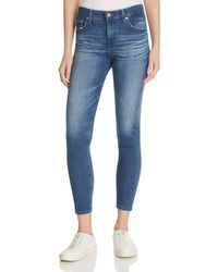 AG Jeans - Blue Farrah Skinny Crop Jeans In 13 Years Warm Breeze - Lyst