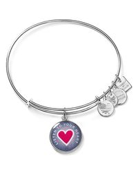 ALEX AND ANI - Metallic Listen To Your Heart Expandable Wire Bangle, Charity By Design Collection - Lyst