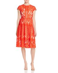 Parker - Red Talulah Lace Dress - Lyst
