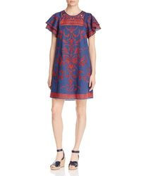 Parker - Multicolor Simone Embroidered Eyelet Dress - Lyst