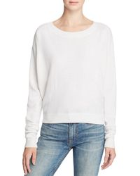 Vince - White Cashmere Crewneck Sweater - Lyst