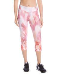 Karen Kane - Pink Printed Cropped Leggings - Lyst