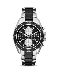 Michael Kors | Metallic Landaulet Chronograph Black Stainless Steel Watch Mk8371 for Men | Lyst