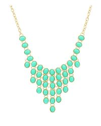 Sparkling Sage | Green Stone Bib Statement Necklace - Compare At $117 | Lyst