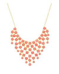 Sparkling Sage - Metallic Stone Bib Statement Necklace - Compare At $117 - Lyst