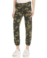 Current/Elliott - Green The Varsity Star Print Sweatpants - Lyst