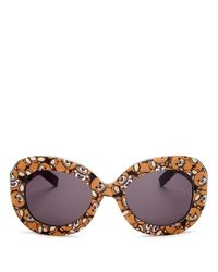 Moschino - Multicolor Oversized Oval Teddy Bear Sunglasses, 57mm - Lyst