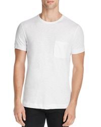 Theory - White Nebulous Cotton Pocket Tee - 100% Bloomingdale's Exclusive for Men - Lyst