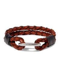Polo Ralph Lauren Brown Braided Leather Wrist Strap Bracelet for men