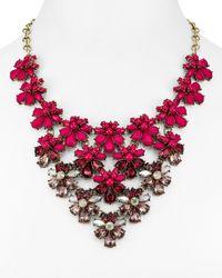 "BaubleBar | Red Athena Bib Necklace, 15"" | Lyst"