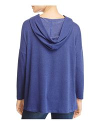 Nally & Millie - Blue Hooded Swing Sweatshirt - Lyst