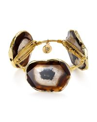 Bourbon and Boweties | Metallic Agate Station Bangle | Lyst