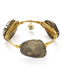 Bourbon and Boweties | Metallic Pyrite Bangle | Lyst