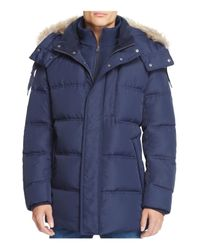 Marc New York | Blue Winslow Hooded Down Parka for Men | Lyst