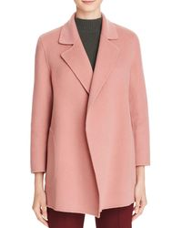 Theory - Pink Claire Wool-blend Coat - Lyst