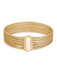 John Hardy | Metallic 18k Yellow Gold Classic Chain Five Row Bracelet | Lyst