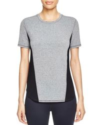 Elie Tahari - Gray Sport Mackenzie Color Block Mesh Side Tee - Lyst