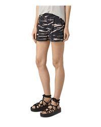 AllSaints Black Odelia Tie Dye Shorts