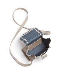 Zac Zac Posen Metallic Eartha Iconic Studded Top Handle Mini Crossbody