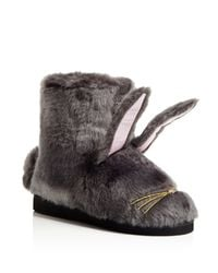 6bc5f922b0ea Lyst - Kate Spade Bethie Bunny Slippers in Gray