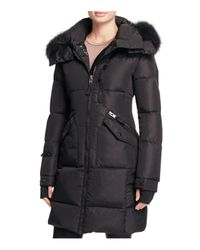 Sam. | Black Highway Fur-trim Long Down Coat | Lyst