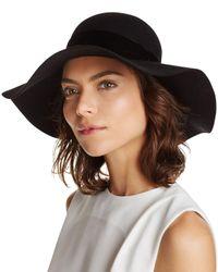 Aqua | Black Velvet Trim Floppy Hat - 100% Exclusive | Lyst