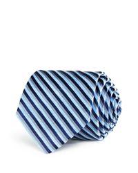 W.r.k. | Blue Melange University Stripe Classic Tie for Men | Lyst