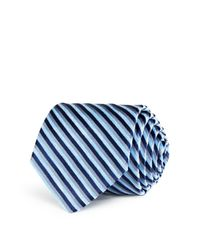 W.r.k. | Blue Melange University Stripe Classic Tie for Men | Lyst