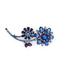 kate spade new york - Blue Trellis Blooms Pin - Lyst