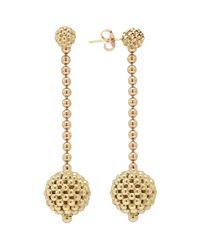 Lagos - Metallic 18k Gold Caviar Lattice Ball Drop Earrings - Lyst