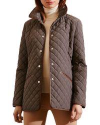 Pink Pony | Brown Lauren Faux Leather-trim Blazer | Lyst