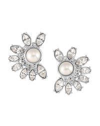 Carolee | Metallic Marquis Clip-on Earrings | Lyst