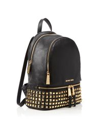 MICHAEL Michael Kors White Small Rhea Zip Studded Backpack