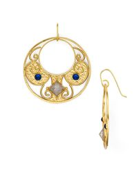 Stephanie Kantis - Metallic Antiquity Round Drop Earrings - Lyst