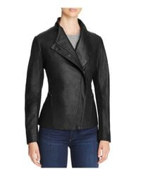 T Tahari - Black Kelly Leather Jacket - Lyst