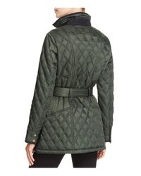 Vince Camuto - Green Belted Faux Suede Coat - Lyst