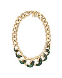 "Michael Kors - Metallic Graduated Chain Necklace, 17"" - Lyst"