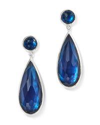 Ippolita | Blue Sterling Silver Rock Candy Wonderland Elongated Snowman Earrings In Midnight | Lyst