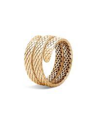 John Hardy | Metallic 18k Yellow Gold Legends Cobra Coil Bracelet | Lyst