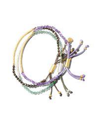 Gorjana - Metallic Aventurine Luck Bracelet - Lyst