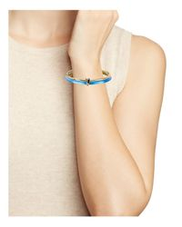Alexis Bittar | Blue Lucite Liquid Metal Stacked Bangles, Set Of 2 | Lyst