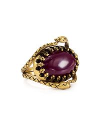 Rebecca Minkoff | Multicolor Snake Cocktail Ring | Lyst
