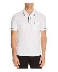 Original Penguin   White Earl Slim Fit Polo Shirt for Men   Lyst