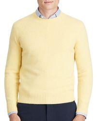 Polo Ralph Lauren Yellow Merino Wool Cashmere Sweater for men