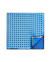 Lanvin | Blue Four-color Dots Pocket Square for Men | Lyst