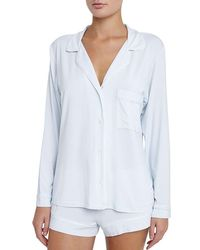 Eberjey | Blue Gisele Long Sleeve Short Pajama Set | Lyst