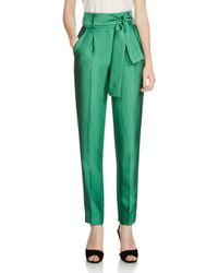 Maje Green Pack High-waist Tapered Pants