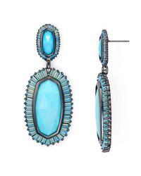 Kendra Scott - Blue Kaki Earrings - 100% Exclusive - Lyst