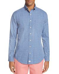 Vineyard Vines Blue Fishbone Murray Slim Fit Button-down Shirt for men